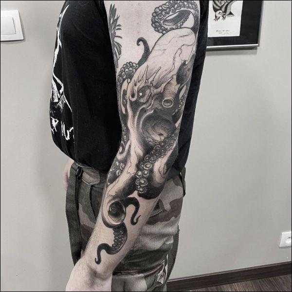 octopus tattoos for men