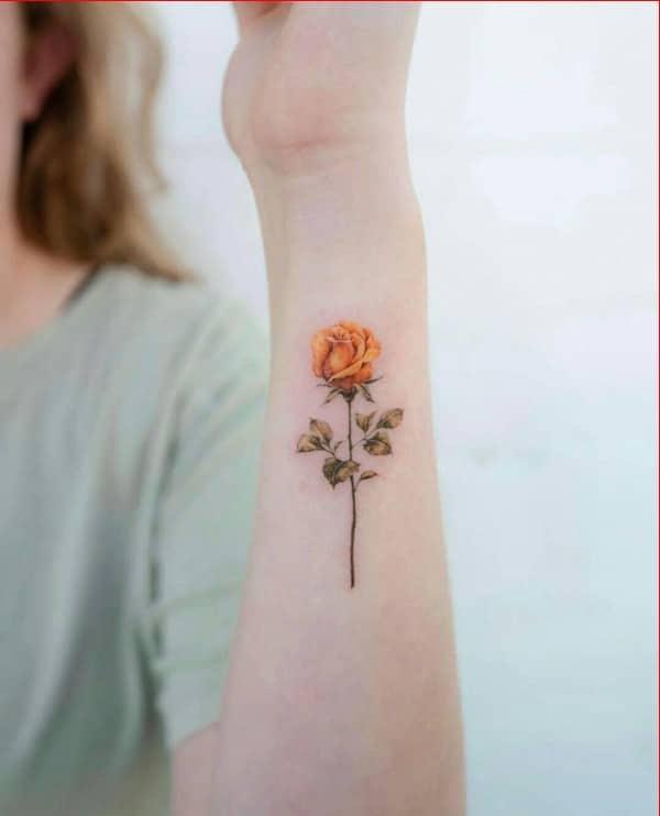 cute flower tattoos on wrist