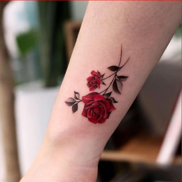 red rose tattoos for girls