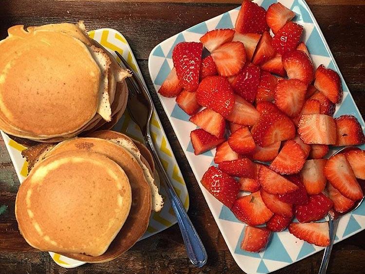 Frühstück vor dem Tattoo