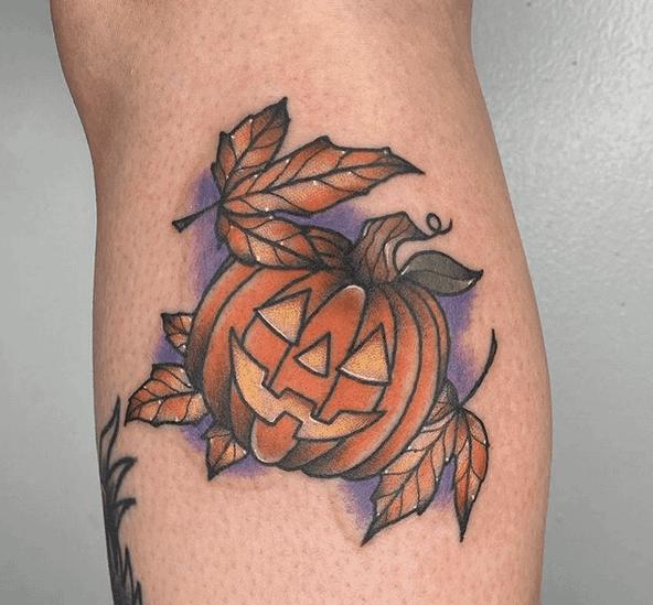 Jack O Lantern Tattoo by haleylynntattoos