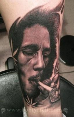 Bob Tyrrell Portrait Tattoo