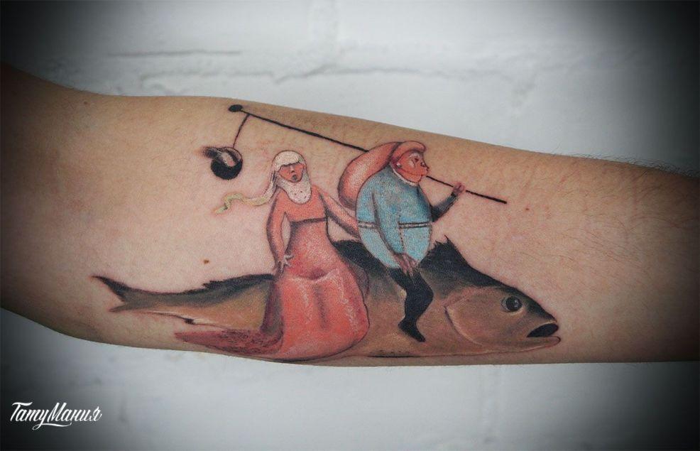 тату в стиле сюрреализм фото работ в каталоге тату салона в москве