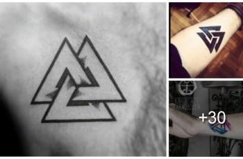 Tatuajes de Valknut o Nudo de La Muerte