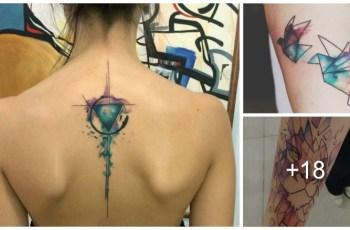 Tatuajes Geométricos Con Técnica de Acuarela