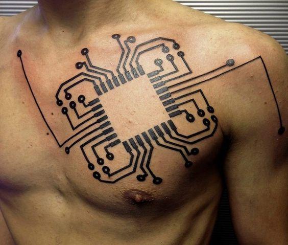 Tatuajes Inspirados en la Tecnología y el modernismo