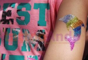 tatuajes temporales purpurina para niños