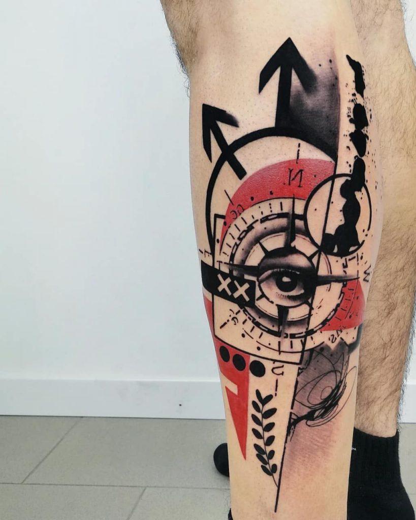тату трэш полька фото эскизы мужские женские крест компас на