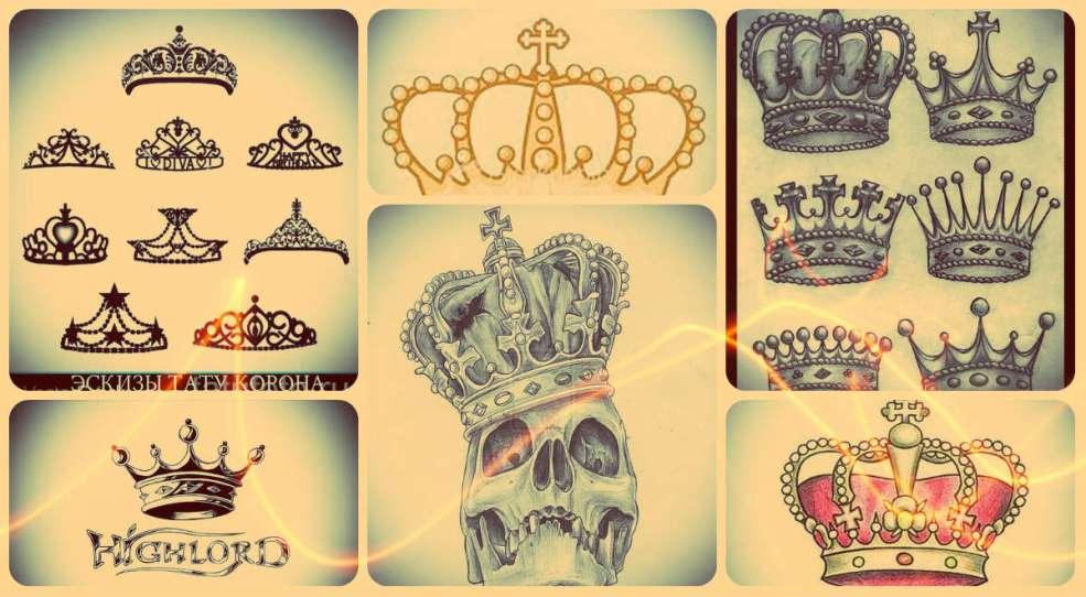 корона тату эскиз лучшие варианты рисунков для татуировки