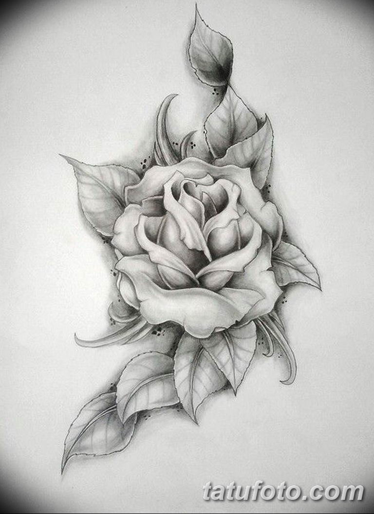 черно белый эскиз тату на бедро вариант 11032019 002 Tattoo