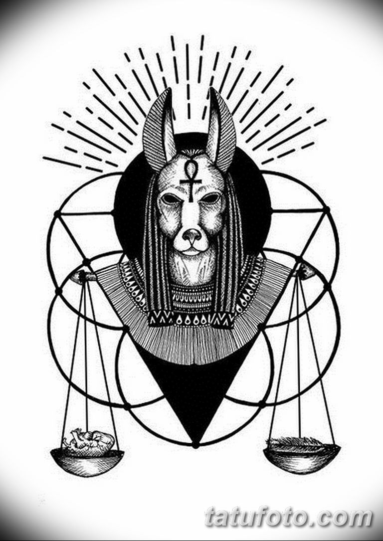 черный эскиз тату анубис 09032019 046 Anubis Tattoo Sketch