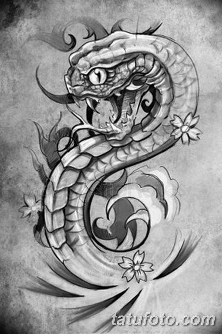 эскизы тату змей для девушек 08032019 023 Tattoo Sketches