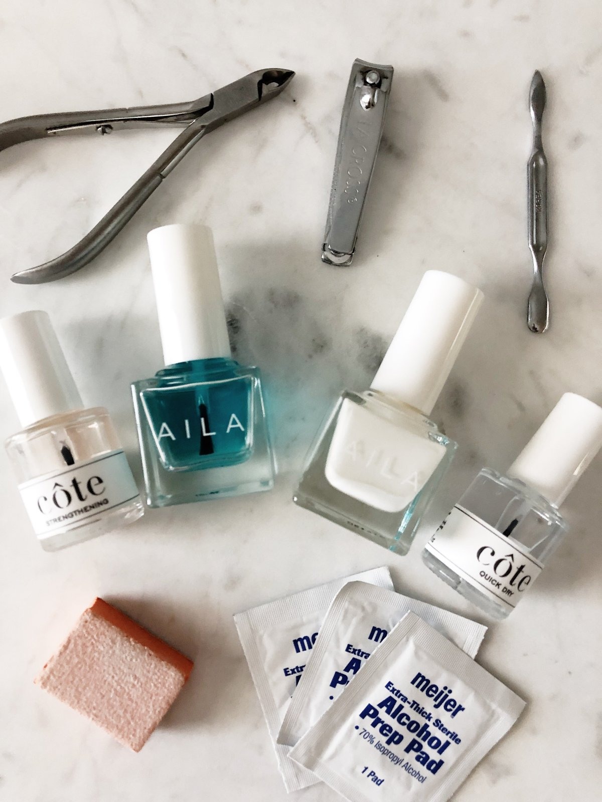 Picture of nail polish and other manicure supplies