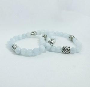 Bracelet aigue marine - bouddha