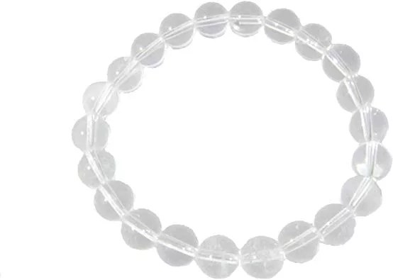 bracelet cristal de roche 8 mm