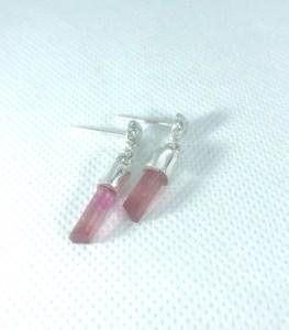 Boucles d'oreilles Tourmaline rose & saumon