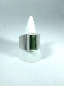 Bague tourmaline verte clair