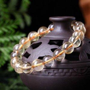 Bracelet Quartz Rutile 8mm