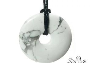 Howlite pendentif Donuts