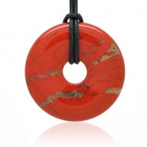 Jaspe rouge pendentif donuts