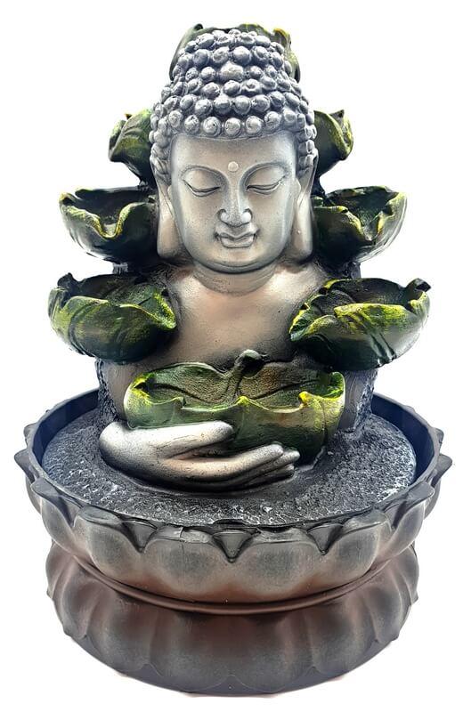 Fontaine Résine Buste Bouddha & Cascade 28cm