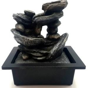 Fontaine Résine Cascade de Pierres 26cm
