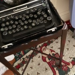 Vintage typewriter/side table