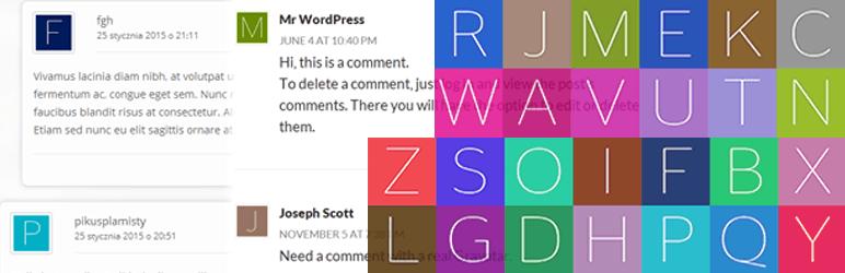 إضافة WP First Letter Avatar ووردبريس