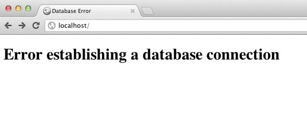 حل مشكلة Error establishing a database connection في ووردبريس