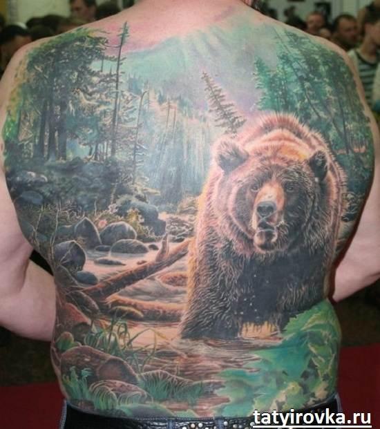 Тату-медведь-и-их-значение-3