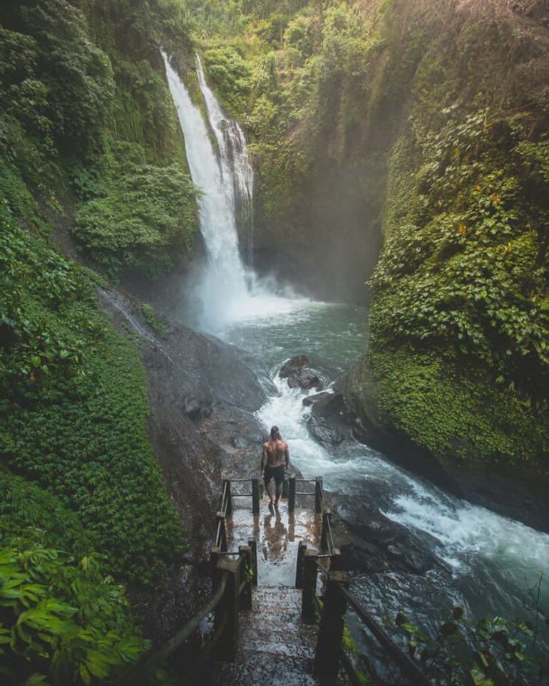 Aling-Aling Waterfall Buleleng Indonesia - Body of water, Fluvial landforms of streams, Natural landscape, Nature, Nature reserve, Outdoor structure, Stream, Vegetation, Water resources, Watercourse, Waterfall