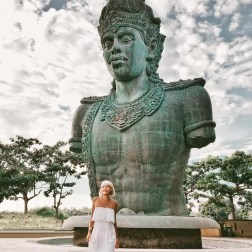 Garuda Wisnu Kencana Cultural Pa, Badung Bali Indonesia - Dress, Forehead, Monument, Outdoor structure, Person, Sculpture, Standing, Statue, Street fashion, Temple, Trunk