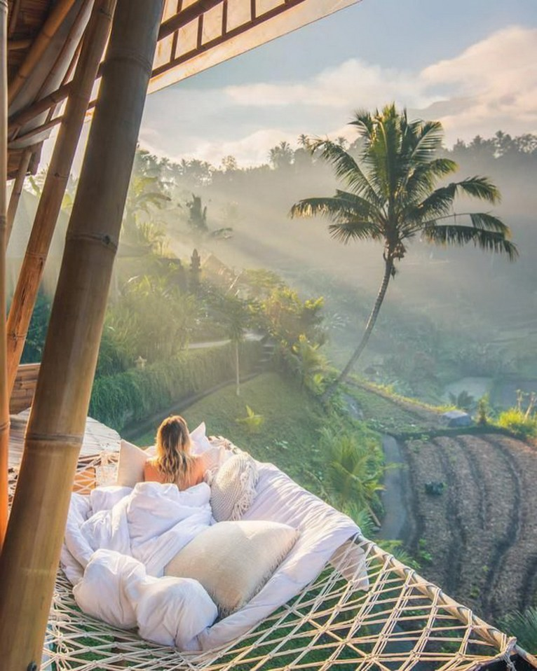 Ubud, Gianyar Bali Indonesia - Arecales, Art, Comfort, Linens, Outdoor structure, Painting, Palm tree, Plantation, Rural area, Tropics