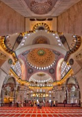 Suleymaniye Mosque, Fatih Istanbul Turkey - Byzantine architecture, Holy places, Light fixture, Mosque, Symmetry