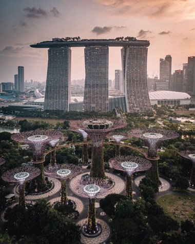Gardens by the Bay, Singapore Central Singapore - Architecture, Cityscape, Landscape, Tower