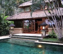 Ubud, Gianyar Bali Indonesia - Arecales, Courtyard, Home, House, Outdoor structure, Resort, Roof, Swimming pool, Villa, Water