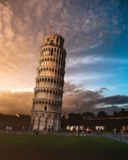 Piazza dei Miracoli, Pisa Tuscany Italy - Atmosphere, Building, Cloud, Daytime, Dusk, Plant, Sky, Skyscraper, Tower, Tower block, Tree