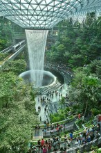 Changi Airport, Singapore South East Singapore - Fountain, Water feature, Waterfall