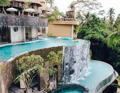 Wanna Jungle Pool and Bar, Gianyar Bali Indonesia - Aqua, Arecales, Composite material, Courtyard, Outdoor structure, Property, Real estate, Resort, Swimming pool, Villa, Water, Water feature