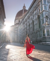 Florence, Florence Florence Italy - Building, Dress, Lighting, People in nature, Person, Public space, Sky, Temple, Travel
