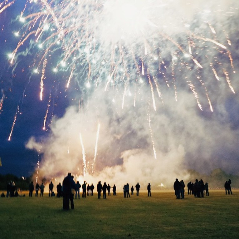 Nordmarksportfeld, Germany - Atmosphere, Atmospheric phenomenon, Cloud, Fireworks, Light, Natural environment, Nature, People in nature, Photograph, Sky, World