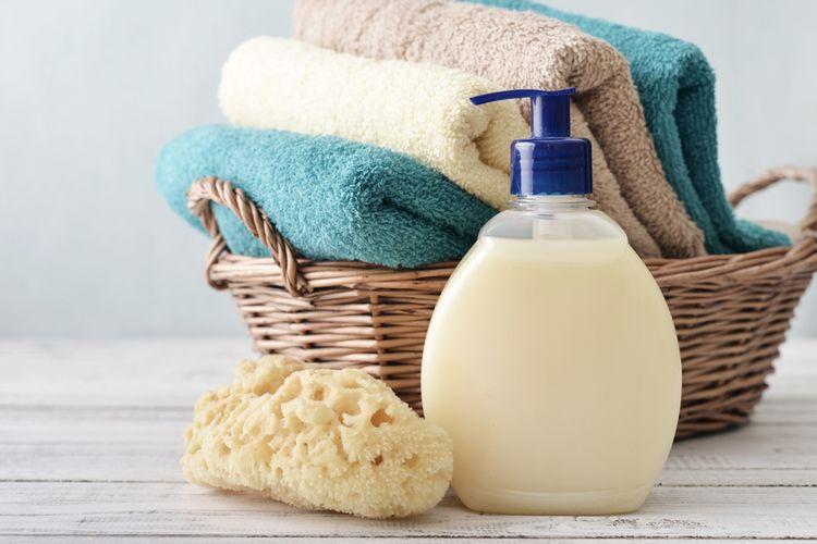 Ilustrasi sabun mandi cair.
