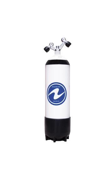 Aqualung Stahlflaschen 12 L Lang mit 2 Ausgänge