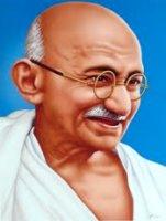 Mahatma Gandhi Friedensspruch zur Taufe