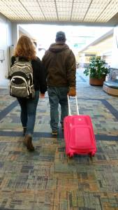Eldest and Hubby in Airport