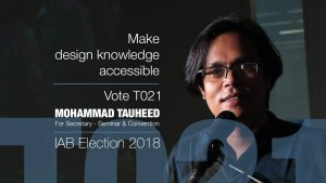 IAB Election Poster 2018 Vote for Mohammad Tauheed