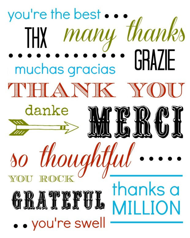 Thank You Card Free Printable