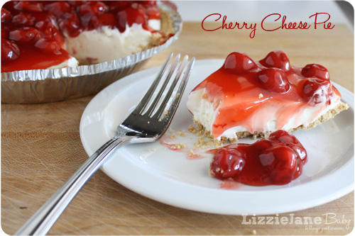 Cherry Cheese Pie via Lizzie Jane Baby