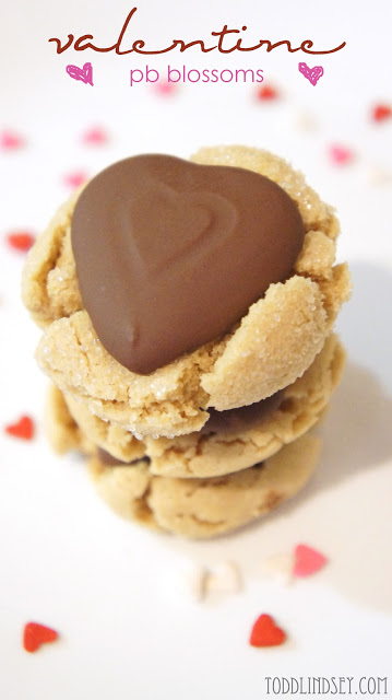Peanut Butter Blossoms via Todd and Lindsey