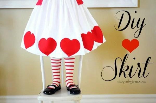 Valentine Heart Skirt via JoJo and Eloise